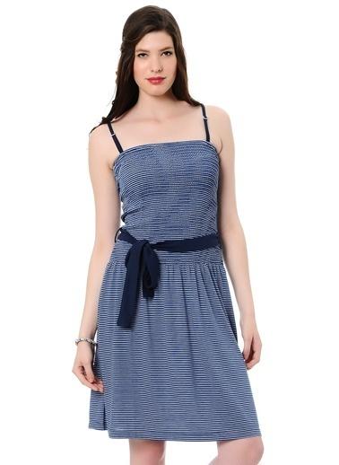 T-Box Elbise Lacivert
